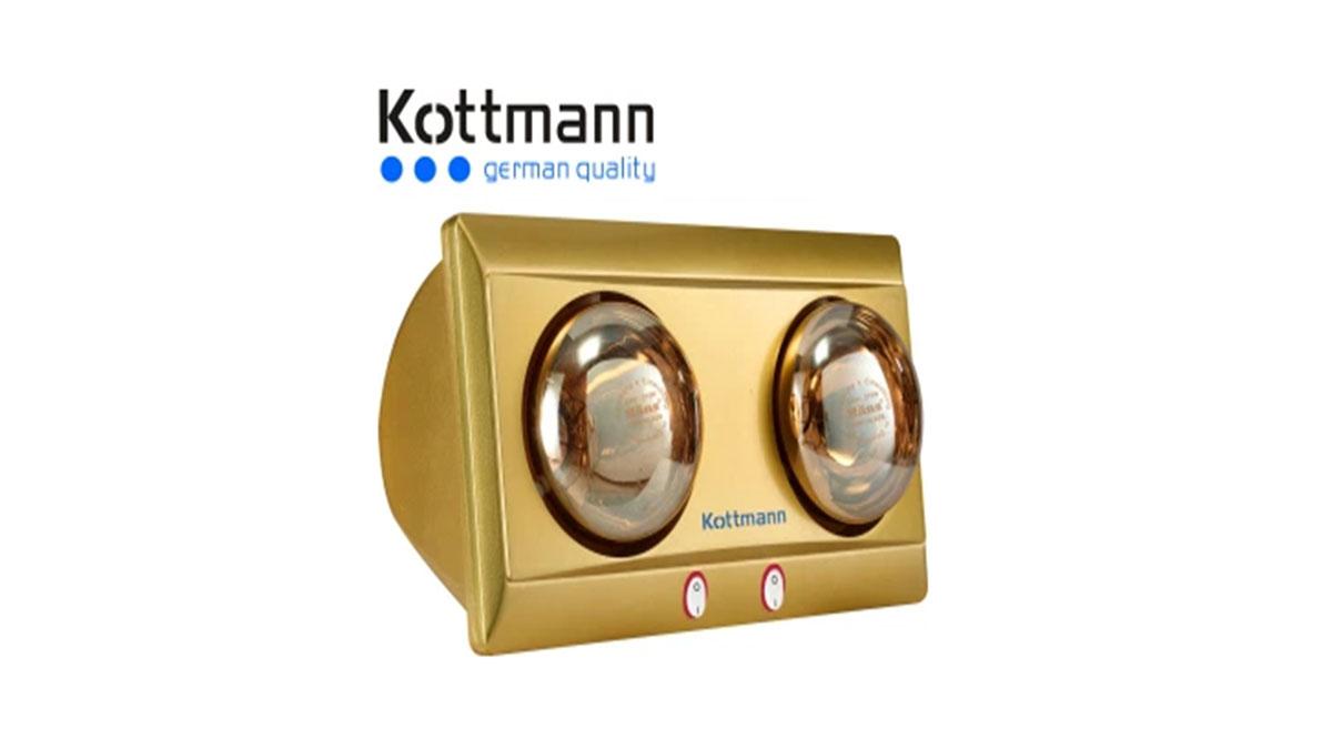 Đèn-Sưởi-Nhà-Tắm-Kottmann-K2BY-2-Bóng-Hồng-Ngoại
