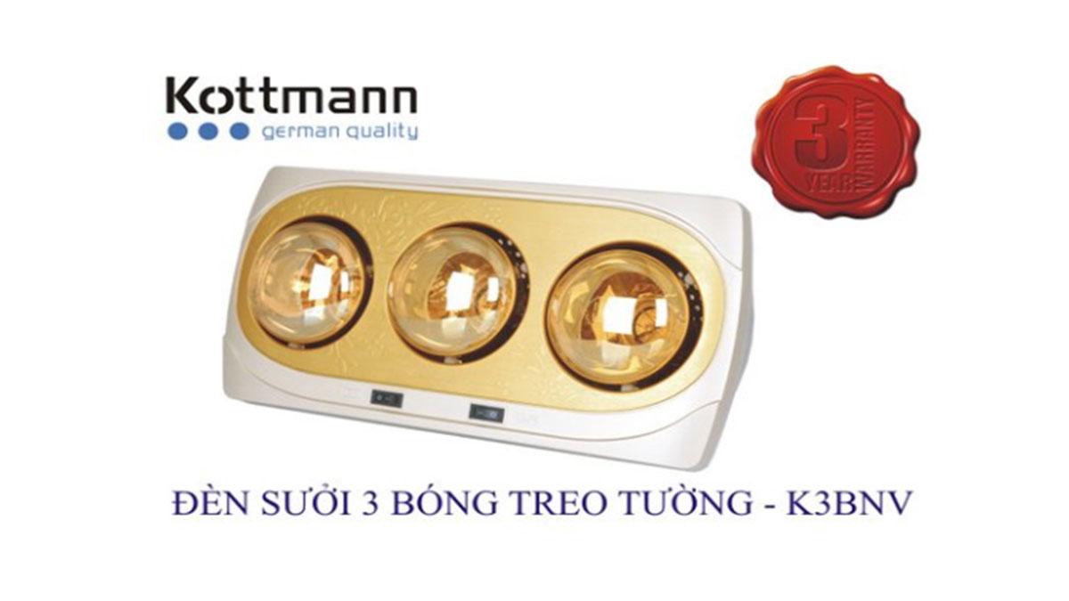 Đèn-Sưởi-Nhà-Tắm-Kottmann-K3B-NV-3-Bóng