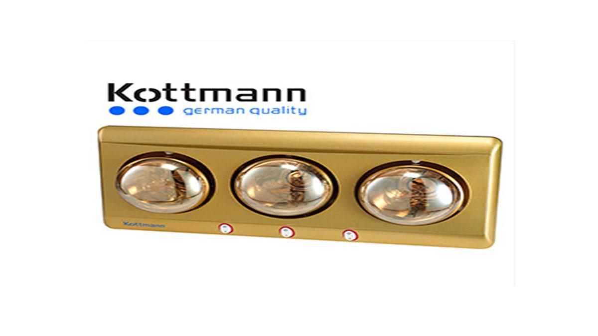 Đèn-Sưởi-Nhà-Tắm-Kottmann-K3B-Y-3-Bóng-Hồng-Ngoại