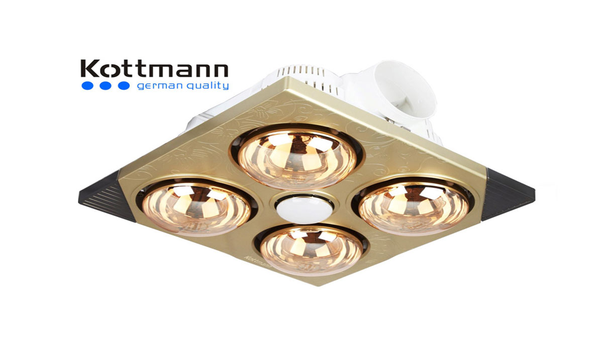 Đèn-Sưởi-Nhà-Tắm-Kottmann-K4BT-Âm-Trần-4-Bóng