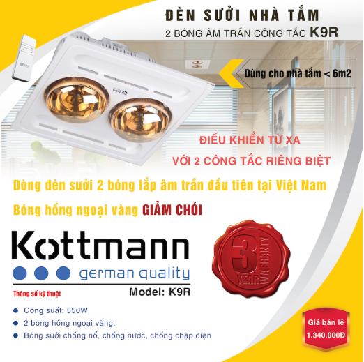 Đèn Sưởi Kottmann K9-R